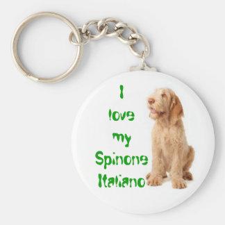 """Key ring - """"I love my Spinone Italiano"""". Keychain"""