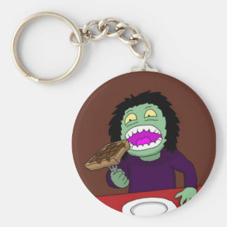 Key ring: Lucy eating gofres Basic Round Button Keychain