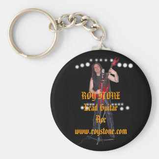 KEY RING, ROY STONE Lead Guitar Ace  ... Basic Round Button Keychain