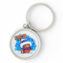 Key Ring with Peace Robin