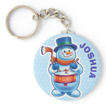 Key Ring with skating penguin