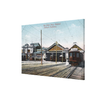 Key Route Ferry Terminal and Railway Canvas Print