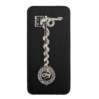 Key & Snake - cream white iPhone SE/5/5s/5c Pouch