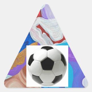 Key Soccer Ball Triangle Sticker
