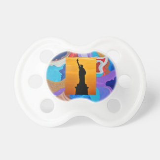Key Statue Of Liberty Pacifier