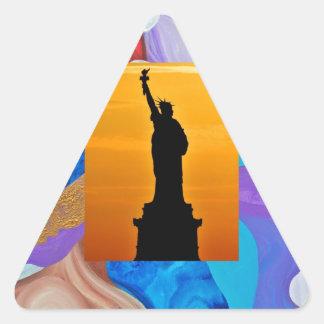 Key Statue Of Liberty Triangle Sticker