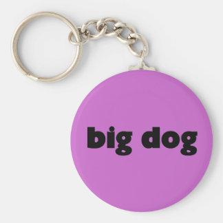 "Key supporter ""big dog "" basic round button keychain"
