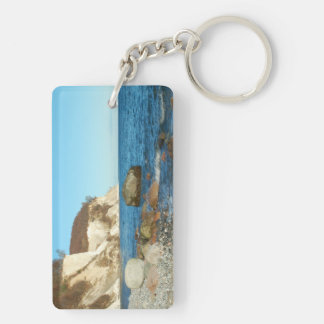 Key supporter chalk rock on reproaches keychain