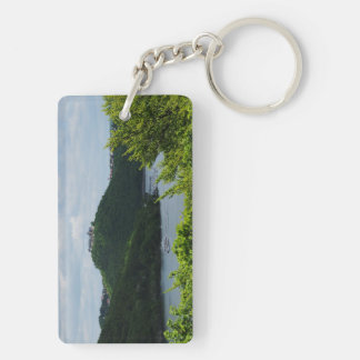 Key supporter closed forest-hits a corner and keychain