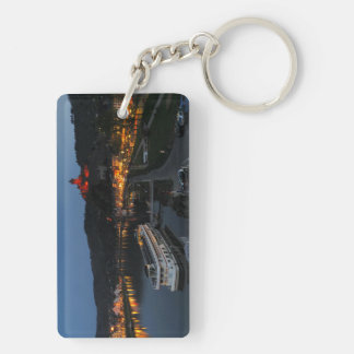 Key supporter Cochem at Moselle in the evening Keychain