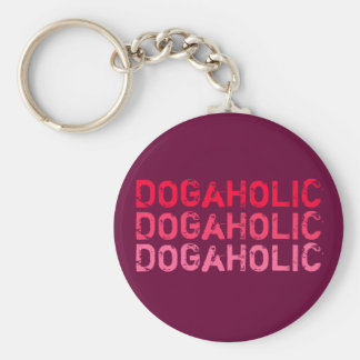 Key supporter DOGaHOLIC red Basic Round Button Keychain