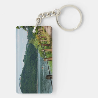 Key supporter Edersee bank and closed forest-hits Keychain