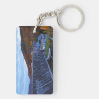Key supporter Edersee concrete dam in the autumn Keychain
