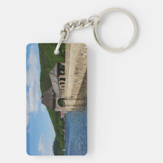 Key supporter Edersee with closed forest-hits a Keychain