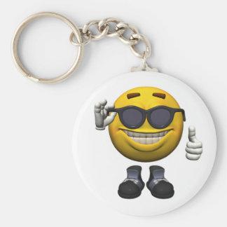 Key supporter Emotiguy Basic Round Button Keychain