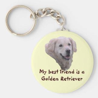 "Key supporter ""golden retriever "" keychain"