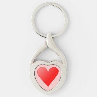 Key supporter heart form with heart keychain