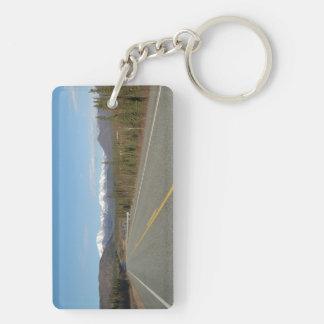 Key supporter Higway in Alaska Double-Sided Rectangular Acrylic Keychain