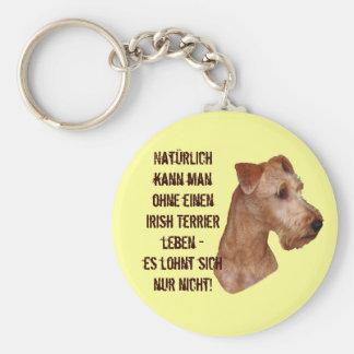 """Key supporter """"Irish Terrier """" Basic Round Button Keychain"""