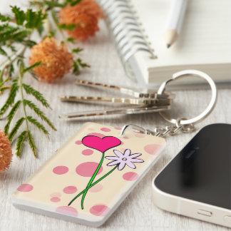 Key supporter acrylic keychains