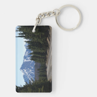 Key supporter landscape in Alaska Double-Sided Rectangular Acrylic Keychain