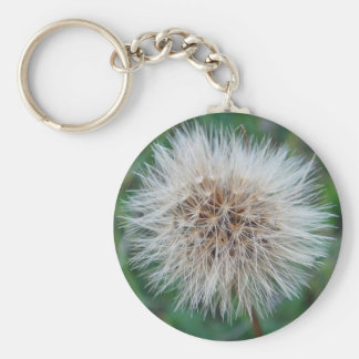 Key supporter lightbeige drying flower basic round button keychain