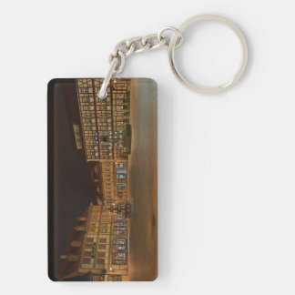 Key supporter market place who Niger ode at night Keychain