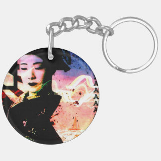 "Key supporter ""mysterious geisha "" keychain"