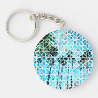 "Key supporter ""palms "" keychain"
