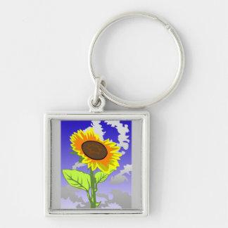 """Key supporter """"sunflower """" keychain"""