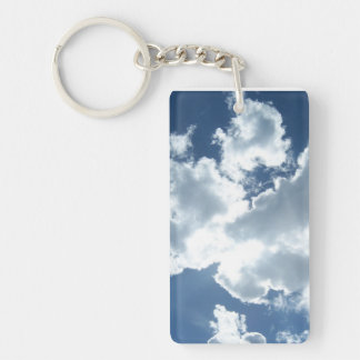 Key supporter with clouds keychain