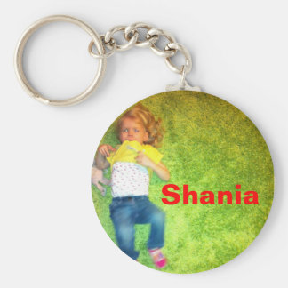 Key supporter with picture basic round button keychain