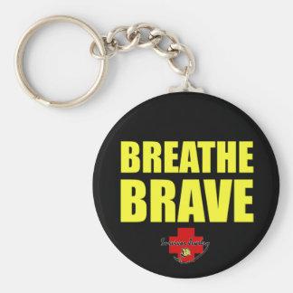 Key to Breathe Brave - Survivor Jewelry Keychain