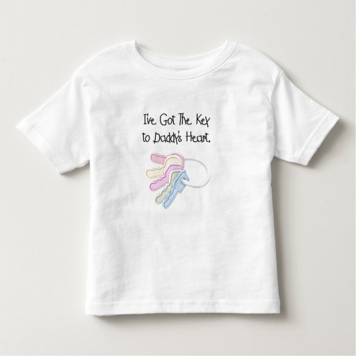 Key to Daddy's Heart Tshirts and Gifts