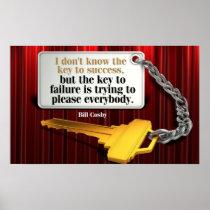 Key to Failure inspirational poster print