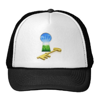 Key to freedom concept trucker hat