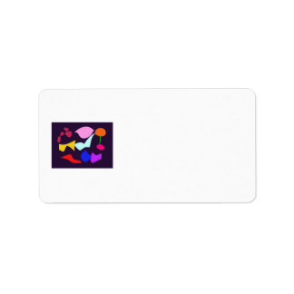 Key to Happiness Black Personalized Address Label
