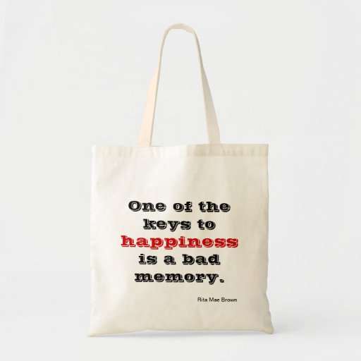 Key to happiness canvas bag