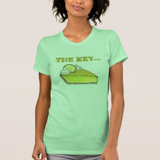Key to Happiness Green Key Lime Pie Slice T-Shirt
