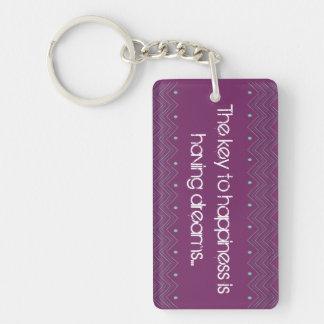Key to Happiness Keychain