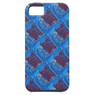 Key to Happiness Pocket Quote Blue Jeans Denim iPhone 5 Covers