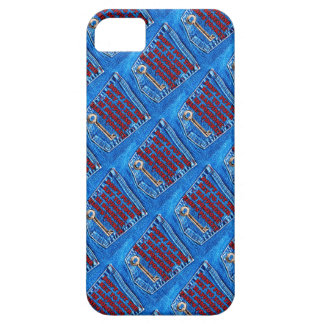 Key to Happiness Pocket Quote Blue Jeans Denim iPhone 5 Cover