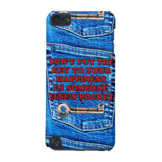 Key to Happiness Pocket Quote Blue Jeans Denim iPod Touch 5G Case