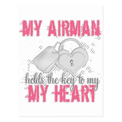 Key to heart Airman Post Card