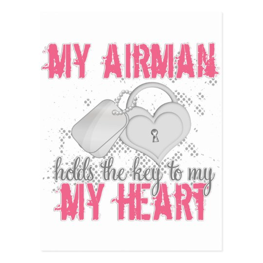 Key to heart Airman Postcard