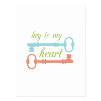 Key To Heart Postcards