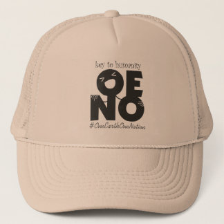 key to humanity black trucker hat