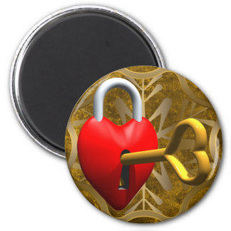 Key To My Heart 2 Inch Round Magnet