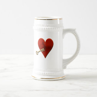 Key to My Heart Beer Stein Mug