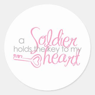 Key to my heart classic round sticker